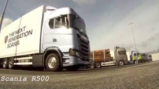 тест 60 тонного автопоезда scania r500