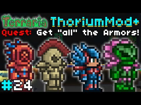 OCEAN, BRONZE, FLIGHT & BLOOM ARMOR! - Terraria Mod: ThoriumMod+ #24 | Quest: Get