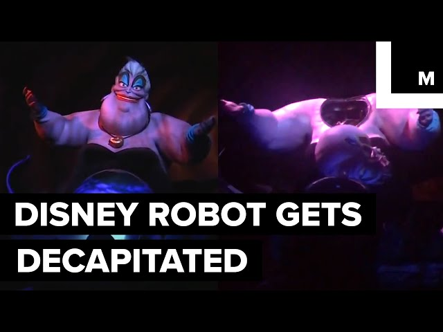 Decapitated Robot on Disneyland Ride is Pure Nightmare Fuel