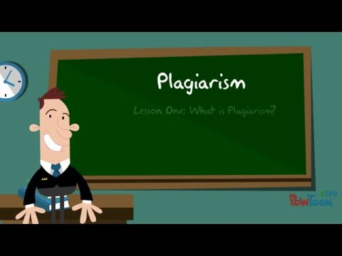 Plagiarism: Lesson One