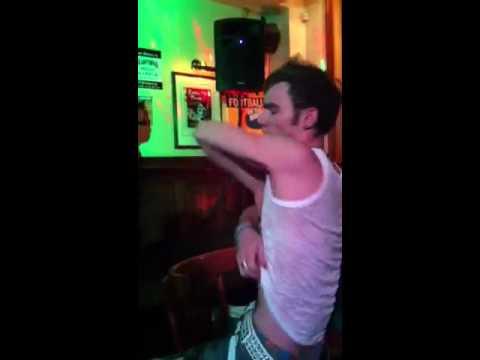 Sam Morris at Royal Hotel Karaoke night