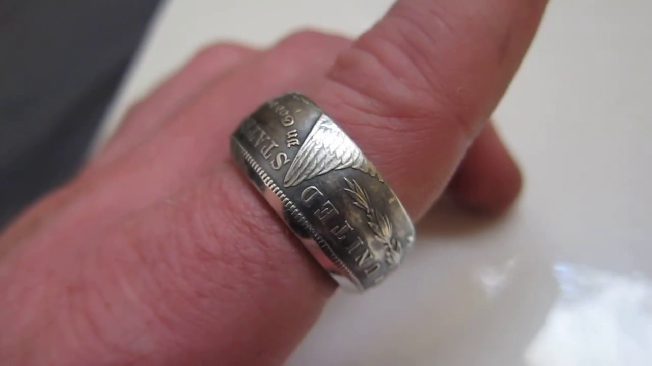 1921 Silver Morgan Dollar Coin Ring Youtube