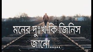 heart touching bengali sayari | bangla sad shayari love story | মনের দুঃখ কি জিনিস জানো