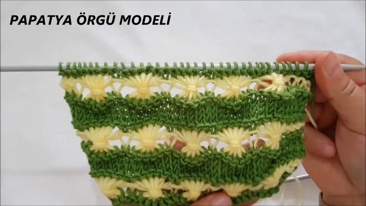Dağda Açan Çiçekler Örgü Modeli Yapılışı