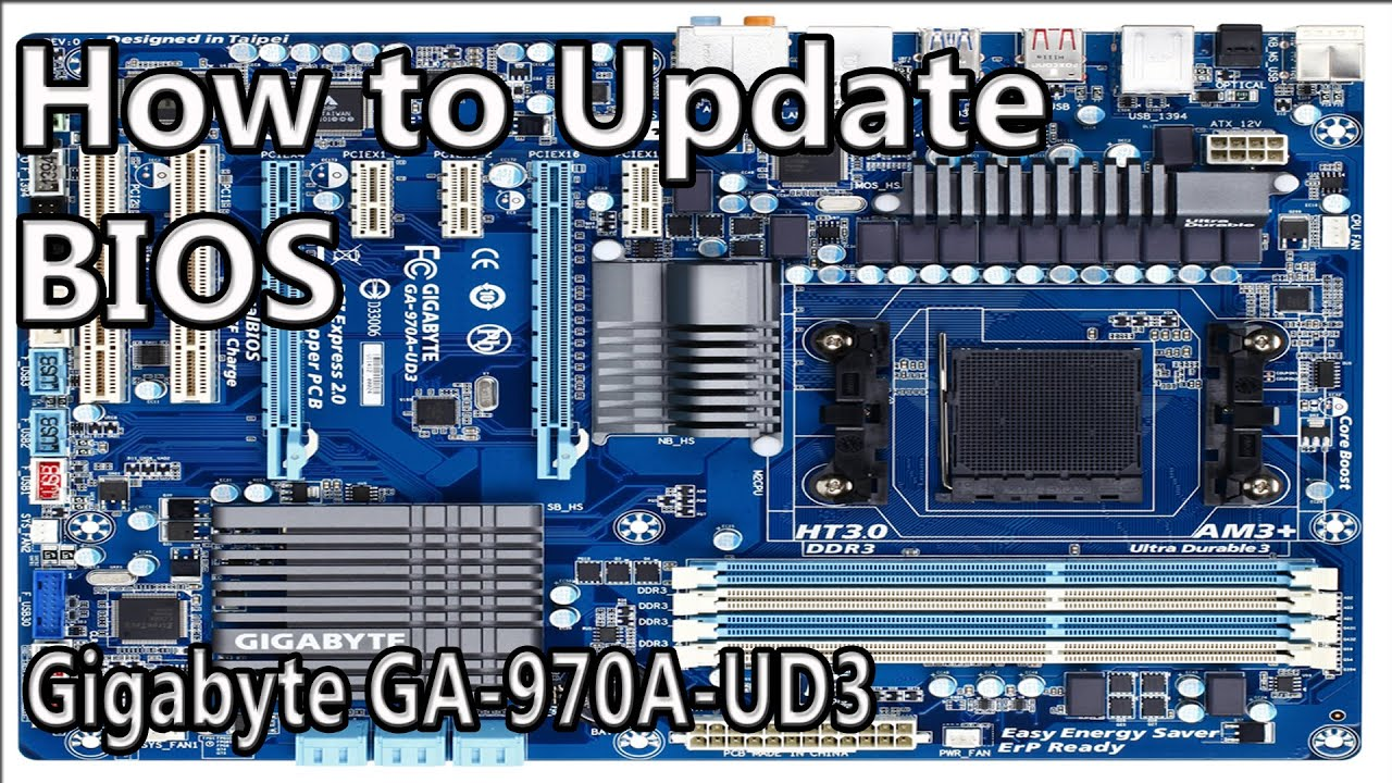 How To Update Bios Gigabyte Mainboard Ga 970a Ud3 Youtube 3wrgb Led Driver Ver11 With Cmos