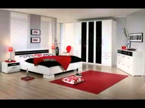 Red Black And White Bedroom Decorating Ideas