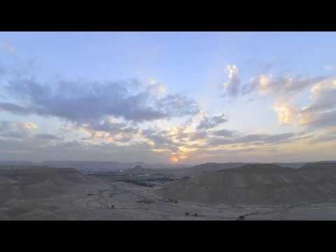 تصوير تايم لابس لغروب الشمس في منطقة ديراب بالرياض ١-١-٢٠١٤