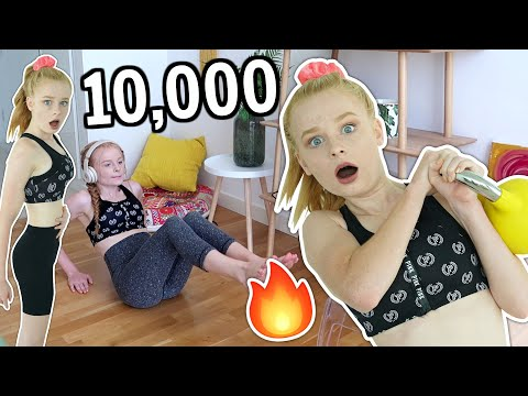 BURNING 10,000 CALORIES IN 24 HOURS CHALLENGE *girl vs exercise*