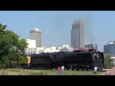 Union Pacific 844 on The Home Plate Special from Omaha, NE to Council Bluffs, IA on 6-28-17!