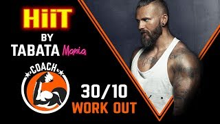 TABATA 30/10 - HiiT Workout music w/ TIMER -TABATAMANIA