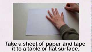 TUTORIAL-The Original Amazing 3D Hole In Paper Drawing