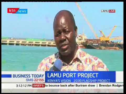 Transport Ministry officials tour the Lamu port project