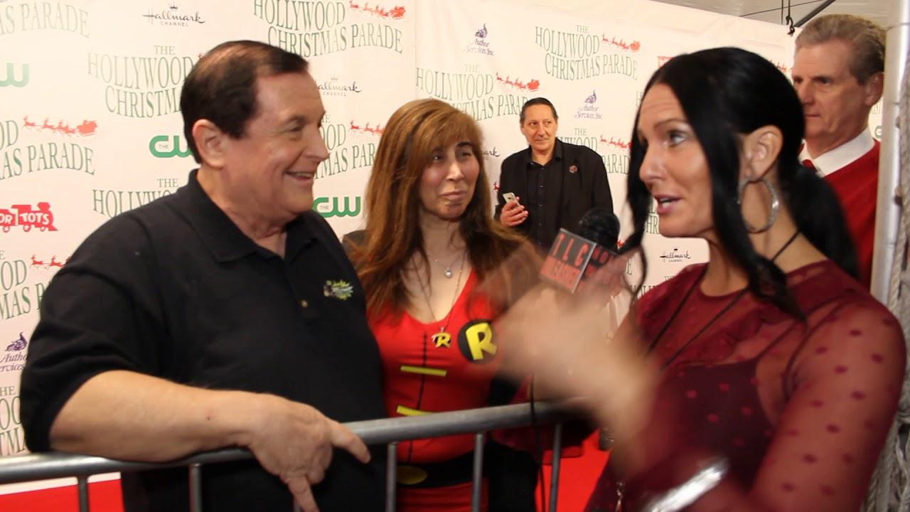 Traci Lynn Cowan with Burt Ward and his wife Tracy at Hollywood Xmas ...