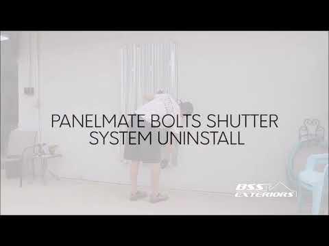 BSS Exteriors how to install panelmate bolt shutters