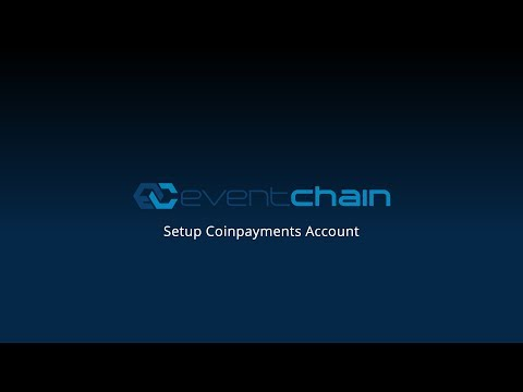 Setup Coinpayments Account