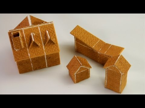 Assembling Graham Cracker Gingerbread Houses YouTube