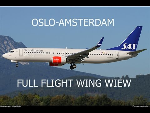 FSX HD B737 Oslo To Amsterdam Full Flight Passenger Wing View
