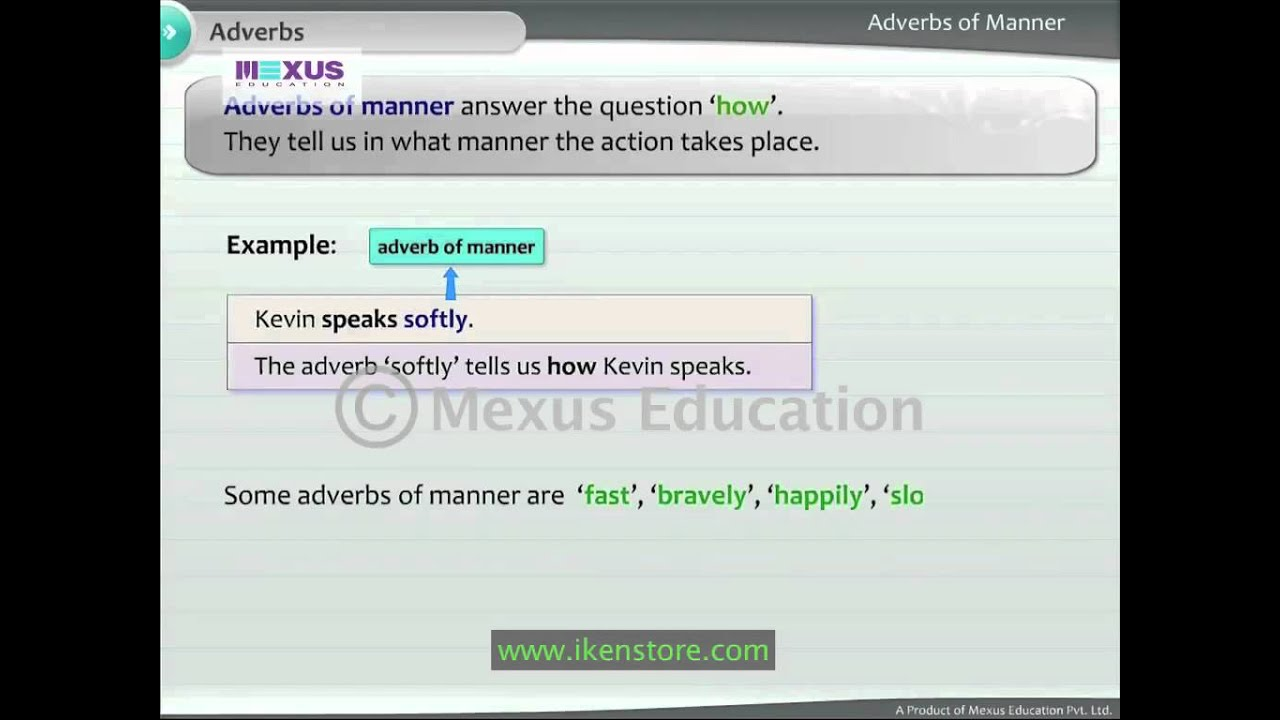 Workbooks worksheets on kinds of adverbs : English Grammar: Learn the Types of Adverbs - YouTube
