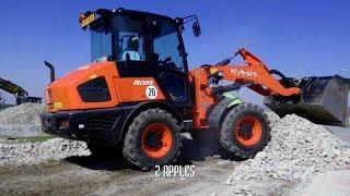 KUBOTA R085 terrain work - great excavator - baumaschinen - Neue Radlader - kolový nakladač