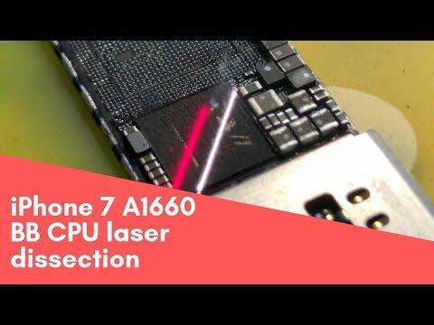 IPhone 7 A1660 Baseband Dissect Fiber Laser \ A1660 вскрытие модема лазером