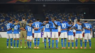 Napoli players pay tribute to Diego Maradona as they all wear the No. 10 shirt