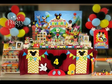 FIESTA DE LA CASA DE MICKEY MOUSE|2017|MESA DE DULCES|PARTY|DECORACION|IDEAS|INFANTILES|ADORNOS|
