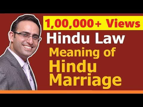 FAMILY LAW - HINDU LAW #1 || Hindu Marriage (Part-1) || Meaning & Definition of Hindu Marriage