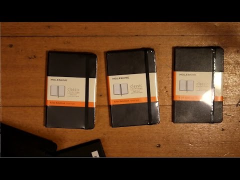 How do you store ideas? - Making a Moleskine Notebook my own