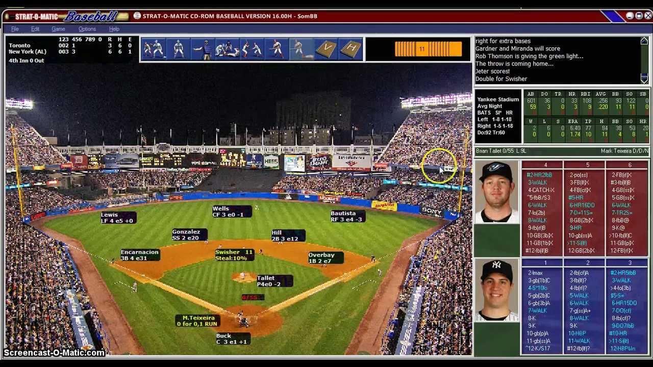 strat-o-matic baseball 2011