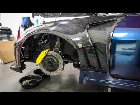 Well that was a fail! | Installing big brake kit on 350z