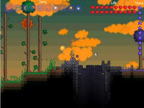 ep.1 how to get a meteorite to fall in terraria