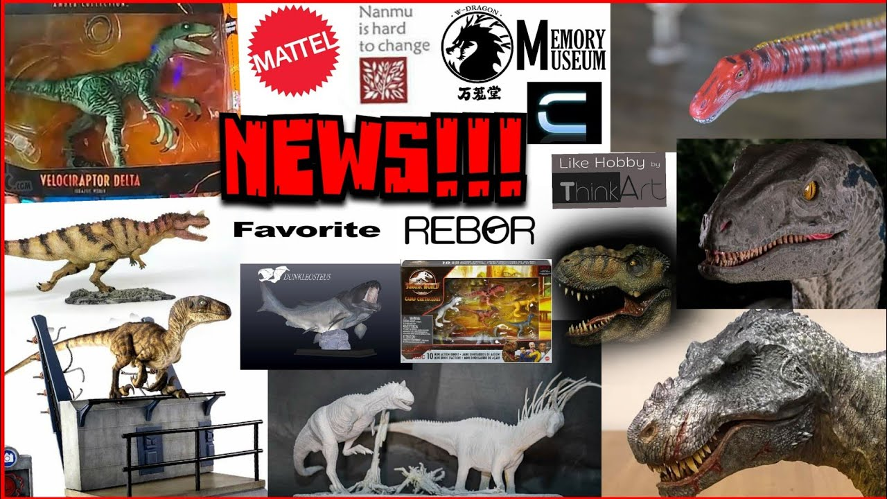News!!! New Amber Collection figure revealed! Camp Cretaceous minis! Nanmu! Rebor! W Dragon! & more!