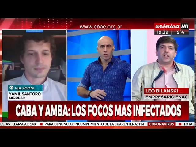 Sobre la cuarentena, los comercios y los buitres - ENAC en Cronica TV