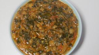 Thotakura Tomato Curry - Thotakura Pulusu - Amaranthus Tomato Curry