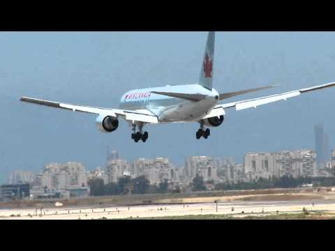 Air Canada Boeing 763 Landing Rwy 30 At Bengurion Airport-Israel