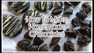 How to make Easy Homemade Chocolates | 6 Types of Chocolates At Home