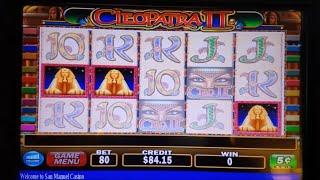 Cleopatra 2 Slot Machine Bonuses $3 and $4  Bet Live Play FULL VIDEO