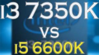 i3 7350k vs i5 6600k benchmark gaming tests review and comparison kaby lake vs skylake