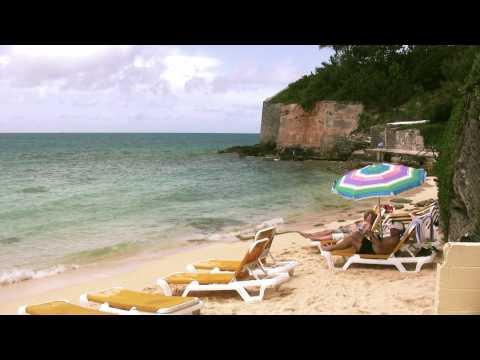 Achilles Bay Beach Bermuda, St Georges Parish, HD Video