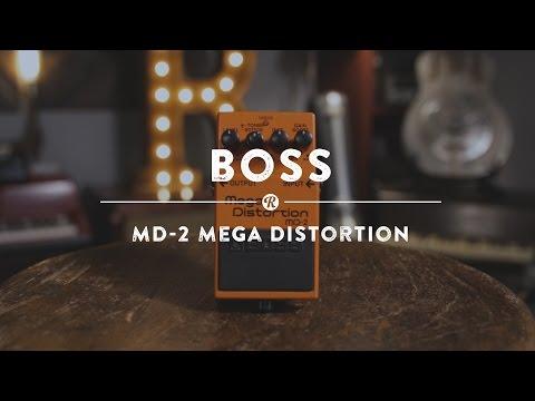 Boss MD-2 Mega Distortion   Reverb Demo Video