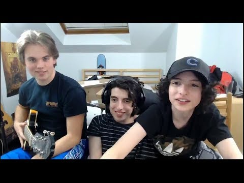 Finn Wolfhard, Nick Wofhard Twitch Stream / 17 Dec 2017