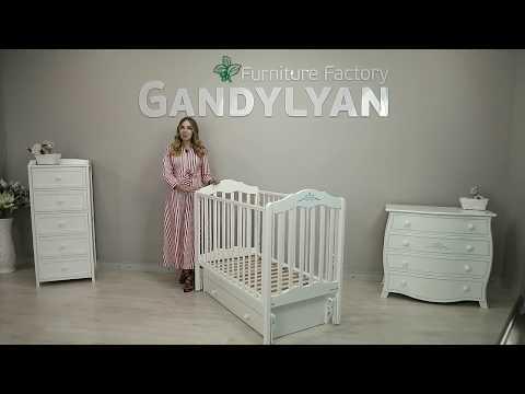 Обзор детской кроватки с маятником Гандылян