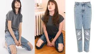 Clear Knee Mom Jeans DIY Tutorial and Review!!