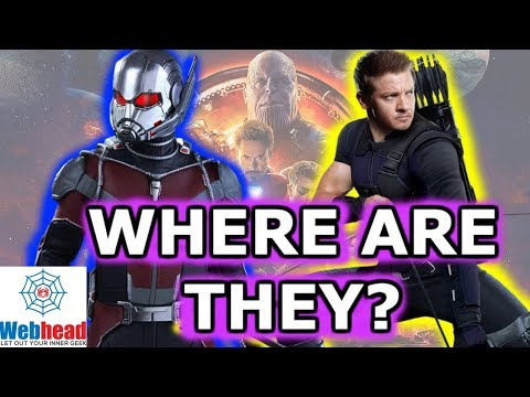 Where is Hawkeye and Ant-Man in Avengers Infinity War? | Webhead
