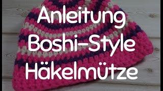 Repeat youtube video Anleitung: Stylische Häkelmütze im Boshi-Style - Mütze Häkeln für Anfänger, das Tutorial