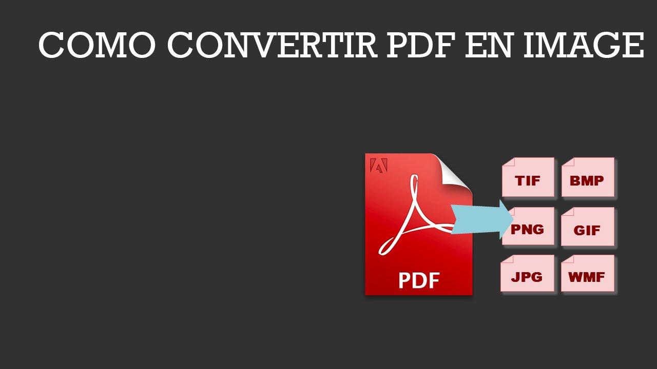 Como Convertir Pdf En Png Youtube