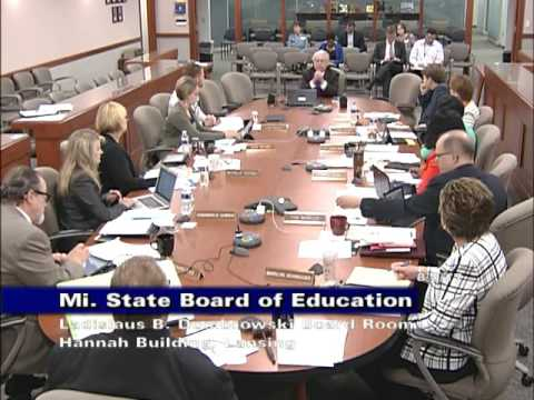 Michigan State Board of Education Meeting for August 8, 2017 - Afternoon Session
