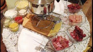 Fleisch Fondue Silvester
