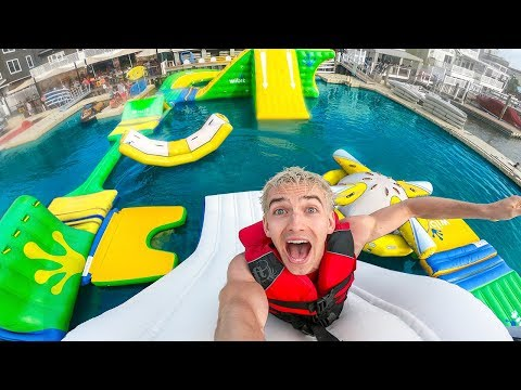 WORLDS BIGGEST INFLATABLE WATER PARK!!
