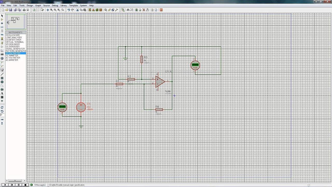 Simulacin De Un Circuito Con Amplificador Operacional Proteus Circuit In Isis Design Servo Motor